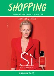 Tallinn-Helsinki Shuttle May-June 2018 Tallink Summer Shopping catalogue – light version