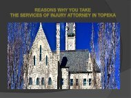 Reasons of taking a Injury Attorney In Topeka