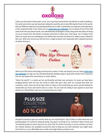 buy online plus size clothing from oxolloxo
