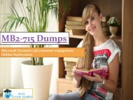 MB2-715 dumps   Download MICROSOFT MB2-715 Real Exam Questions   RealExamDumps