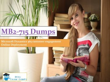 MB2-715 dumps | Download MICROSOFT MB2-715 Real Exam Questions | RealExamDumps