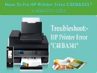 Cal +1-8005-97-1052 Fix HP Printer Error C4EBA341   Printer Support