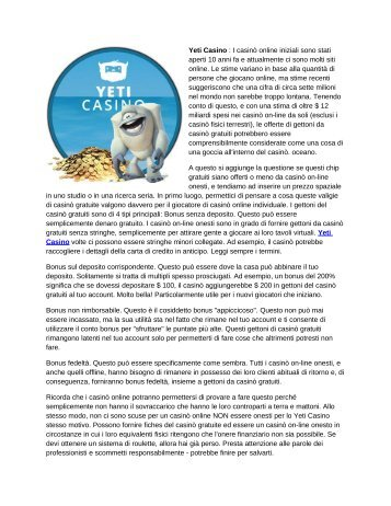 Yeti Casino - 100% Online Bonus £333 + 100 Free Spins