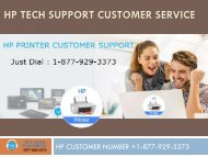 Hp Tech Support Customer Service number