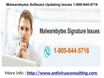 Malwarebytes Software Updating Issues 1-800-644-5716