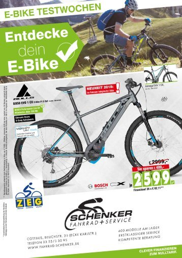 Fahrrad Schenker E-Bike Testwochen