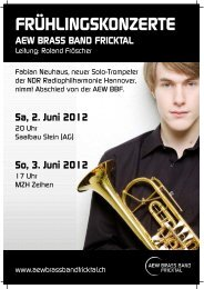 Sa, 2. Juni 2012 - Fricktalbrass | Brass Band Fricktal