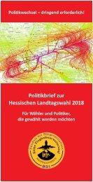 BBI-Politikbrief zur Hessischen Landtagswahl 2018 - Flyer-Format (Stand 18.04.2018)