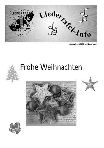 Liedertafel-Info - Liedertafel Hockenheim