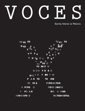 Voces No.10 Revista de la colonia Santa Maria la Ribera