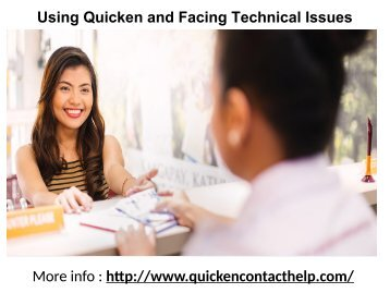 Using Quicken and Facing Technical Issues