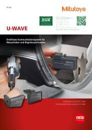 Mitutoyo U-Wave Drahtloses Kommunikationssystem Messschieber und Bügelschrauben