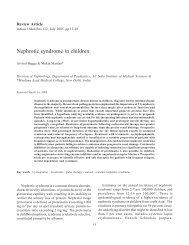 Nephrotic syndrome in children - medIND