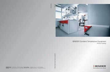 BINDER Constant Temperature Equipment - LABO - SK