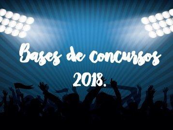 Catálogo de concursos 2018.