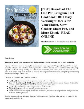 Read pdf weight watchers cookbookpressure cooker recipes for quick pdf download the one pot ketogenic diet cookbook 100 easy weeknight meals for forumfinder Choice Image