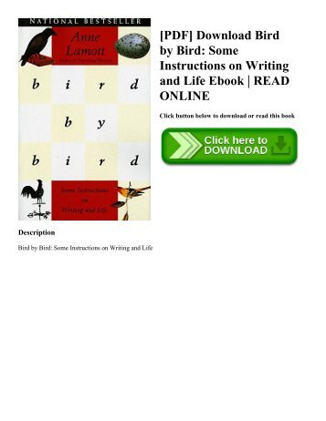 [PDF] Download Bird by Bird Some Instructions on Writing and Life Ebook  READ ONLINE