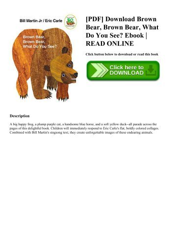 [PDF] Download Brown Bear  Brown Bear  What Do You See Ebook  READ ONLINE