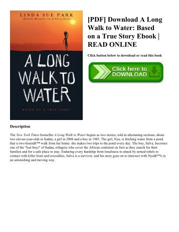 [PDF] Download A Long Walk to Water Based on a True Story Ebook  READ ONLINE