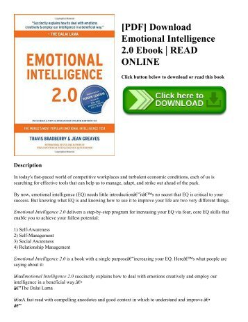 [PDF] Download Emotional Intelligence 2.0 Ebook  READ ONLINE