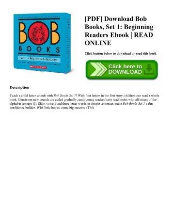 Great books for beginning readers entering 1st grade pdf download bob books set 1 beginning readers ebook read online fandeluxe Images