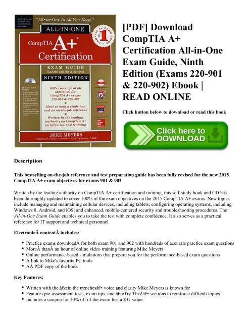 Comptia A+ Certification All-in-one Exam Guide Pdf