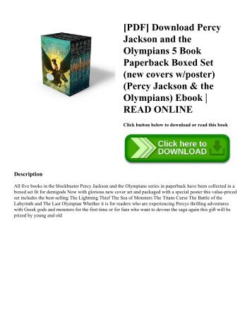 [PDF] Download Percy Jackson and the Olympians 5 Book Paperback Boxed Set (new covers wposter) (Percy Jackson & the Olympians) Ebook  READ ONLINE