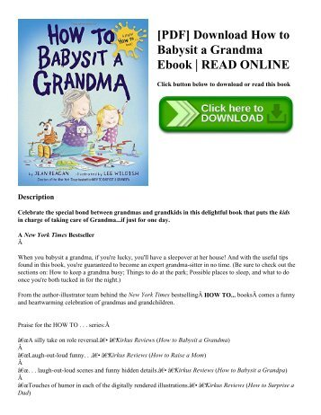 [PDF] Download How to Babysit a Grandma Ebook  READ ONLINE