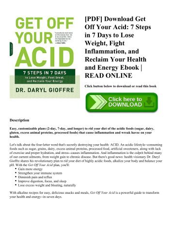 Pdf download thin from within the go with your gut way to lose pdf download get off your acid 7 steps in 7 days to lose weight ccuart Choice Image