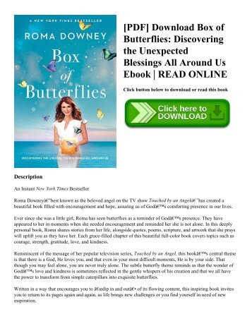[PDF] Download Box of Butterflies Discovering the Unexpected Blessings All Around Us Ebook  READ ONLINE
