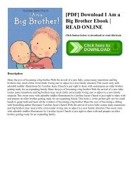 [PDF] Download I Am a Big Brother Ebook  READ ONLINE