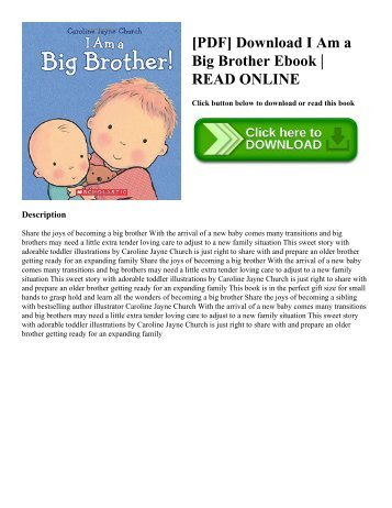 [PDF] Download I Am a Big Brother Ebook  READ ONLINE