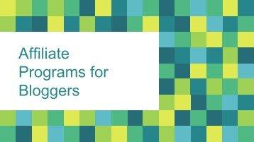 Best Affiliate Program for Beginner Bloggers