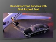 Best Airport Taxi Services with Dial Airport Taxi