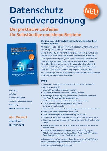 Datenschutz Grundverordnung DSGVO Buchflyer