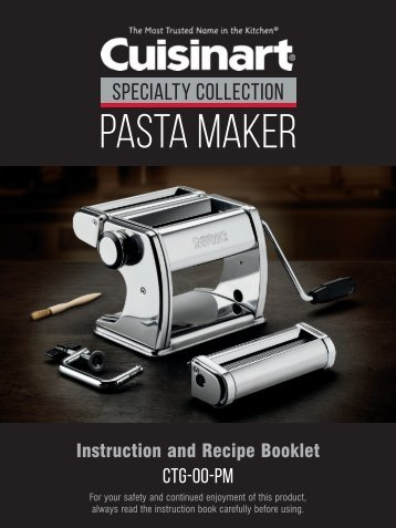 Cuisinart 5-Piece Pasta Maker -CTG-00-PM - MANUAL