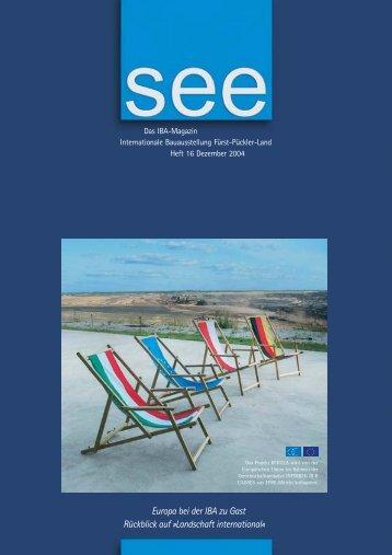 Europa bei der IBA zu Gast Rückblick auf »Landschaft international«