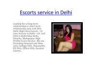 Escorts service in Delhi