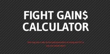 FIGHT GAINS CALCULATOR