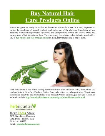 Buy Natural Hair Care Products Online