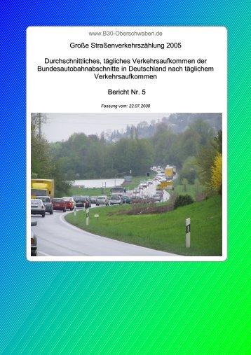 Bericht 5: DTV der Bundesautobahnabschnitte (PDF)