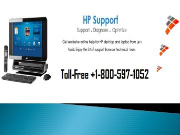 HP Customer Service Number 1-800-597-1052 toll-free helpline