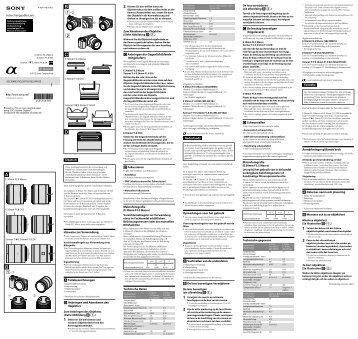 Sony SEL30M35 - SEL30M35 Istruzioni per l'uso Tedesco