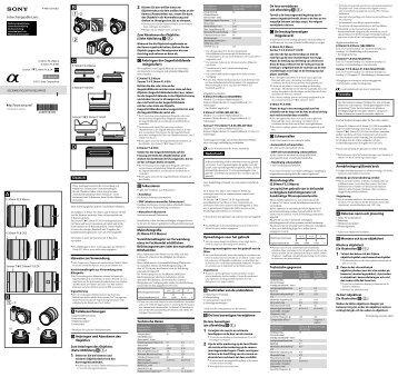 Sony SEL30M35 - SEL30M35 Istruzioni per l'uso
