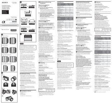 Sony SEL30M35 - SEL30M35 Istruzioni per l'uso Norvegese