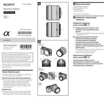 Sony SEL30M35 - SEL30M35 Istruzioni per l'uso Polacco