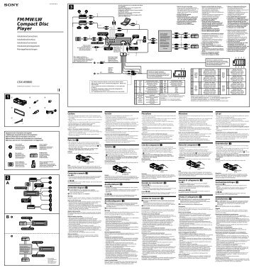 Sony CDX-M8800 - CDX-M8800 Guida di installazione