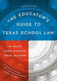 Free eBooks The Educator s Guide to Texas School Law: Ninth Edition For Free