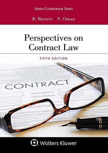 Drafting contracts in legal english cross border agreements pdf download perspectives on contract law aspen coursebook ebook platinumwayz