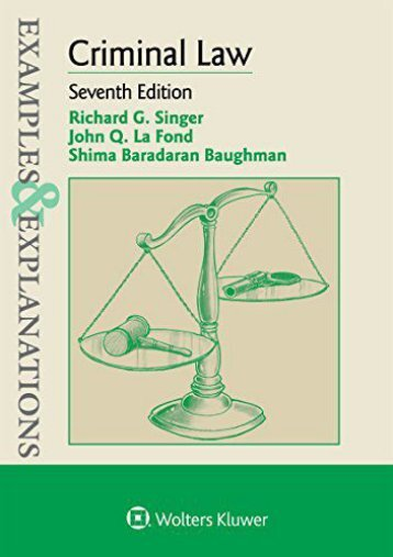 ePUB download Examples   Explanations for Criminal Law Full page
